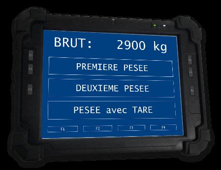Tablette pesage-identification